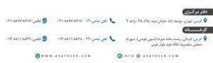 تماس با ما - شرکت آواتوسعه آریا